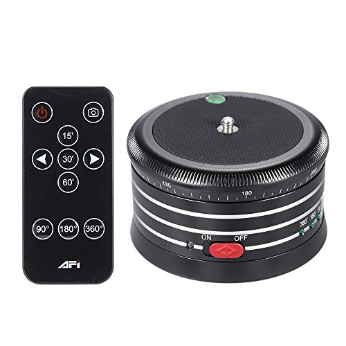 Andoer AFI MRA01 Professionelle 360 °Metall Elektro-Panoramakopf Kugelkopf mit Fernbedienung für GoPro Action-Kamera Smartphone Pocket-Kamera Micro SLR-Kamera-Digitalkamera (Bottom Motor Mount)