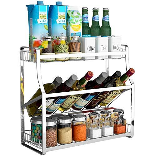 Besteckhalter ständer S12 Condiment Flasche Lagerung Gewürzregal 304 Edelstahl Landing Shelf Haushalt schiefe Platzierung Küche Gewürzregal (größe : 35cm)