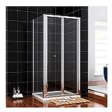 Duschkabine 80x80 aus Einscheiben-Sicherheitsglas eckdusche Duschtüren/Duschtrennwand für Badzimmer von sunnyshowers