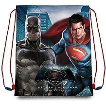 Kids Batman Vs Superman Saco Mochila, Color Azul