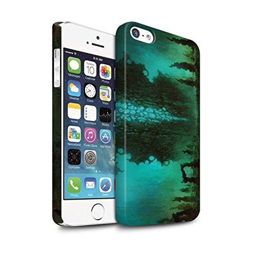 Offiziell Chris Cold Hülle / Matte Snap-On Case für Apple iPhone SE / Pack 12pcs Muster / Fremden Welt Kosmos Kollektion Alien Landschaft