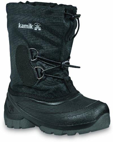 Kamik Southpole2 NK8859, Stivali da neve Unisex bambini Nero (Schwarz (black BLK))