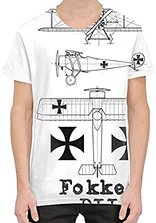 Fokker dii blueprint custom t shirt for men women for Soft custom t shirts