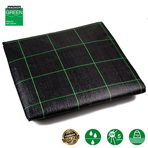 Unkrautvlies Bodengewebe | Fertigmaß / Rollenware | 100g /m² | wasserdurchlässiges Vlies mit UV- Stabilisierung | Unkraut-Schutzvlies aus PP Bändchengewebe | Profiqualität