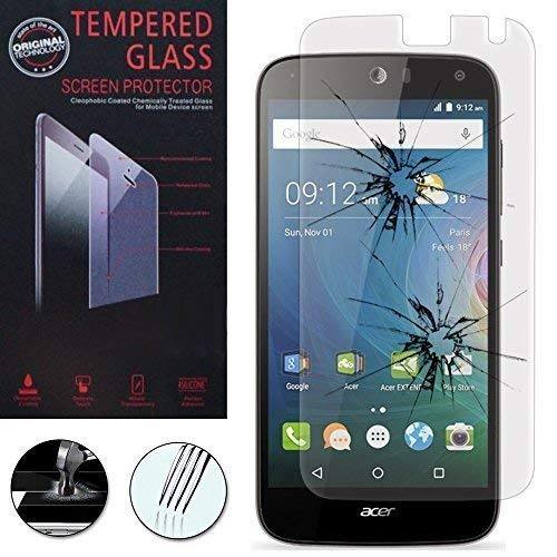 Hülle Cover Etui Wallet-Etui Halterung Video Buch Klappe Kunstleder Wirkung Stoff für Acer Liquid Z630/ Z630S - 1 Folie Hartglas
