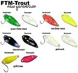 FTM Spoon Rock Blinker 4,2g - Löffelblinker zum Spinnfischen, Forellenblinker, Forellenköder, Blinker zum Forellenangeln