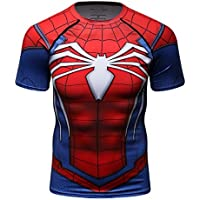 Cody Lundin Hombres de Compresión y Fitness Ropa Deportiva T-Shirt,3D Superhéroe Superpersona Araña Bate Camisetas de Manga Corta