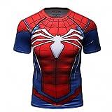 Cody Lundin Hombres de compresión y Fitness Ropa Deportiva T-Shirt,3D superhéroe Superpersona Araña Bate Camisetas de Manga Corta (M, Photo Color)