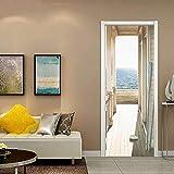 Volwco Sticker Porte Trompe l'oeil Effect 3D pour Décoration Mur, Autocollants Muraux en Vinyle Auto-adhésifs - 78,7 X 30,3 Pouces