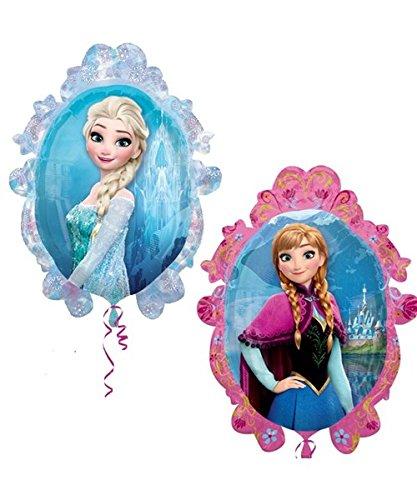 Globo de Disney Frozen Elsa y Anna, doble cara