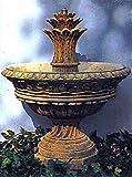 pompidu-living Brunnen, Gartenbrunnen, Zierbrunnen, fountain, Marseille Farbe sandstein