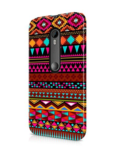 Cover Affair Aztec Printed Designer Slim Light Weight Back Cover Case for Moto G3 / Motorola G3 (Pink & White & Blue & Black & Other) (Group 2-D81)