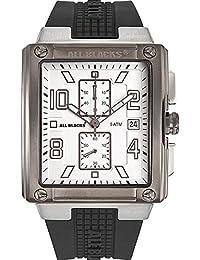 All Blacks - 680065 - Montre Homme - Quartz Analogique - Cadran Blanc - Bracelet Plastique Noir