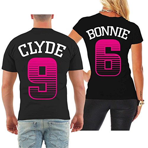 *Partnershirt Bonnie & Clyde STRIPES (mit Rückendruck)*