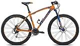Torpado bici mtb mercury 29'' alu 3x8v disco taglia 52 arancione blu v17 (MTB Ammortizzate) / bicycle mtb mercury 29'' alu 3x8s disc size 52 orange blue v17 (MTB Front suspension)