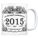 2015 der beste Jahrgang Kaffeebecher - ein tolles Geschenk zum Geburtstag für Wein Liebhaber und alle die im Jahr 2015 geboren sind.