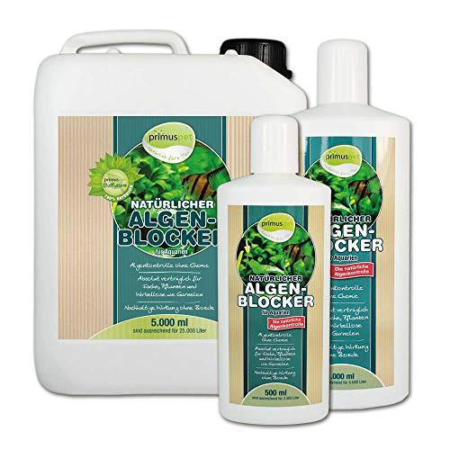 primuspet Natürlicher Algen-Blocker (GRATIS Lieferung innerhalb Deutschlands - Algenkontrolle ohne Chemie. Wirkt auf natürliche Weise bei lichtbedingtem Algenwuchs und Befall im Aquarium. Garantiert verträglich für Garnelen und Wirbellose), Inhalt:1 Liter