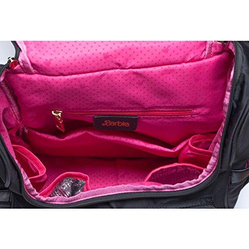 Barbie Zaino da Viaggio per Mamma e Papà Multifunzionale e Grande capacità dalla Serie di Fashionistas Colore Nero Blu Viola#BBBP163 Nero