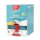 Prozis 10 x Diet Shake zur Gewichtsreduktion, Pulver, 20 g Erdbeere