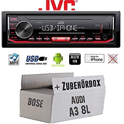 Autoradio-Radio-JVC-KD-X262-MP3-USB-Android-iPhone-Einbauzubehr-Einbauset-fr-Audi-A3-8L-Bose-JUST-SOUND-best-choice-for-caraudio