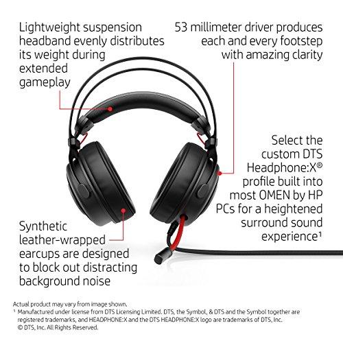 HP Omen 800 Headset (Black) Image 6