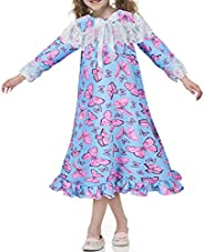 Tacobear Camicia da Notte Bambina Manica Lunga Pigiama Unicorno Farfalla Principessa Abito da Notte Sleepwear