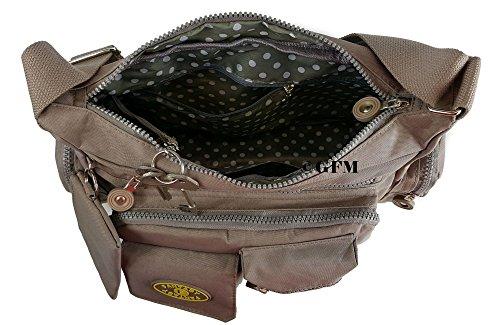 GFM Fashion, Borsa a tracolla donna Multicolore multicolore Small Style 0 - Black (8998KL)