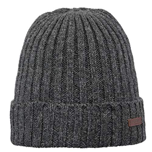 d4df7073 Barts Men's Haakon Turnup Beret Multicolore (Charcoal 21) One Size