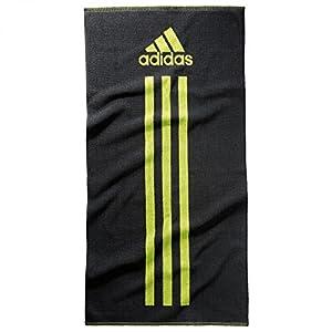 adidas Handtuch Towel S Dark Grey/Semi Solar Yellow, One size