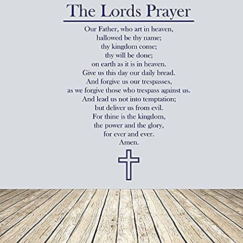 The Lords Prayer Christian Cross Religious Wall Stickers Home Decor