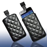 Cellulare tasche kunstleder1XXL nero per Samsung Galaxy S2Plus i9105P/Nokia Lumia 520/Sony Xperia acro S/Sony Xperia neo L/Acer Liquid C1/Acer Liquid Z2/Alcatel One Touch 992d/Archos 35Carbon
