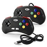 iNNEXT 2X SNES Controller PC USB Gamepad Super Controller Joystick Joypad Gamestick für Windows/Mac/Linux/Raspberry pi 3,schwarz