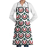 Iraq Flag Eat The Earth Bib Apron Chef Apron - with Pockets For Men and Women Prossional Gardening Gifts
