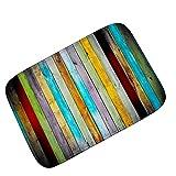 WGFGXQ Farbige Vertikale Planke Flanell Türmatte Bad Küche Fußmatten - Zwei Größen (40 X 60 cm Oder 60 X 90 cm),#1,40×60Cm