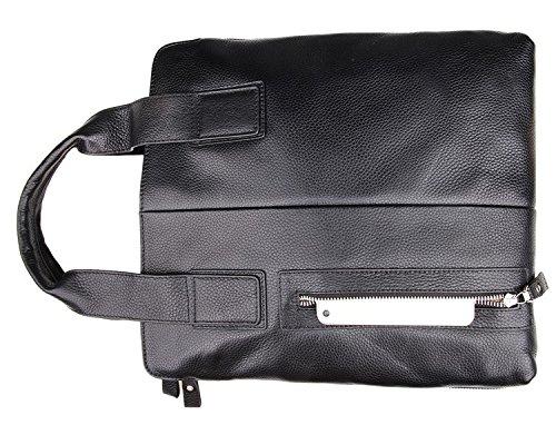 Hermiona Black Color Genuine Leather Handbag Messenger Bag For Men Black