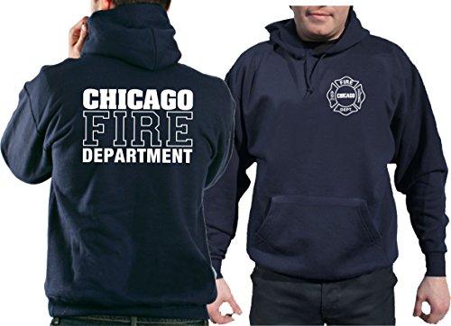 Kapuzensweater CHICAGO FIRE DEPT. in navy mit Standard-Emblem und Schriftzug