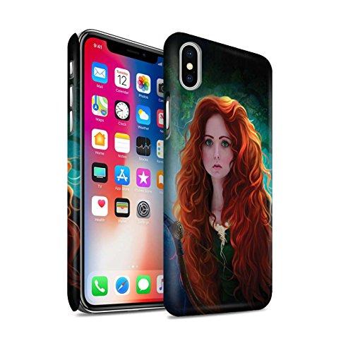 Offiziell Elena Dudina Hülle / Matte Snap-On Case für Apple iPhone X/10 / Gefrorenes Herz Muster / Märchen Charaktere Kollektion Prinzessin