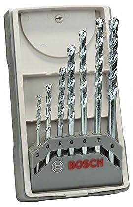 Bosch 2 607 017 079 - Juego de 7 brocas para piedra CYL-1-3; 4; 5; 6; 6; 7; 8 mm (pack de 7)