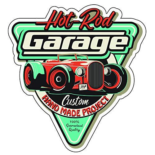 Finest-Folia Retro Vintage Aufkleber Sticker Old School Ace Kult Rockabilly (#24 Hit Rod Garage) -