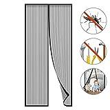 LESHP Magnet Fliegengitter Tür Insektenschutz Balkontür 100x210cm, Magnetvorhang für Terrassentür, Kellertür und Wohnzimmer, Kinderleichte Klebemontage Ohne Bohren