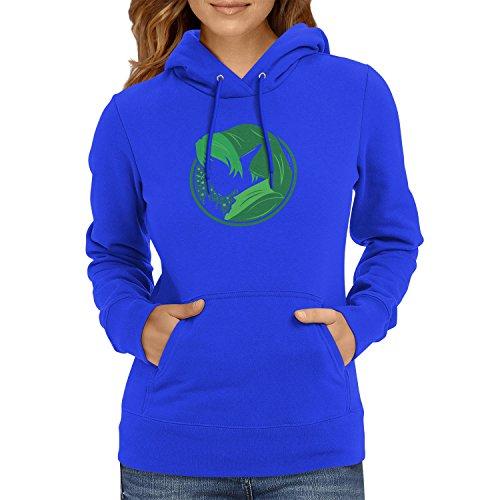 TEXLAB - Green Link - Damen Kapuzenpullover, Größe S, (Cute Kostüme Nerd Frauen Für)