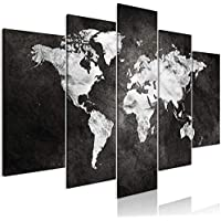 murando - Cuadro Mapamundi 200x100 cm - Impresion en Calidad fotografica - 5 Partes - Cuadro