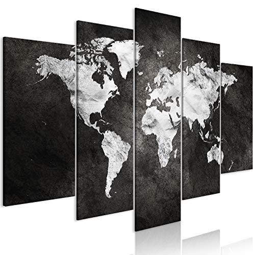 murando - Cuadro Mapamundi 225x112 cm - impresión de 5 Piezas - Material Tejido no Tejido - impresión artística - Imagen gráfica - Decoracion de Pared - Concreto k-A-0430-b-m