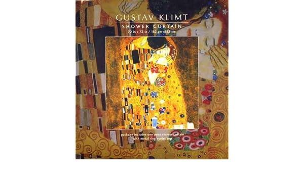 Gustav Klimt Shower Curtain Amazoncouk Kitchen Home