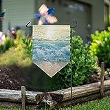 LENNEL Garten Flagge doppelseitig 28 x 40 Zoll für Rasen Party Hochzeit Farm Home Decor Wasser Wellen Meer Spray
