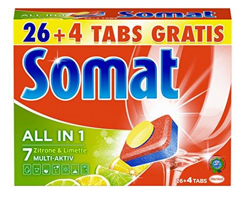 Somat Tabs 7 All in 1 Zitrone und Limette, 7er Pack (7 x 540 g)