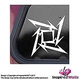 2x Metallica Star Abziehbild Aufkleber Ninja Auto JDM Dashboard Notebook by Inspired Walls®