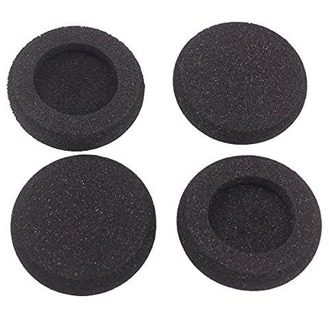 Bingle Coussinets en mousse de rechange pour Plantronics Supra Plus encore et la plupart des casques Taille standard Bureau Téléphone H251H251N H261H261N H351H351N H361H361N (Lot de 4) (bec-fm4)