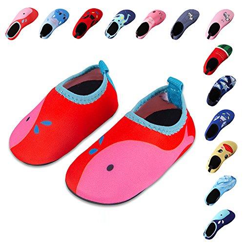 Laiwodun Kleinkind Schuhe Schwimmen Wasser Schuhe Mädchen Barefoot Aqua Schuhe für Beach Pool Surfen Yoga Unisex (2-26-27)