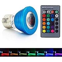 YouOKLight E27 3W RGB Multicolore lampadina, telecomando con dimmerabili 16